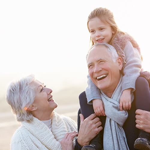 Grand parents with child