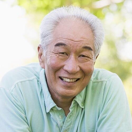 Older man with a big smile