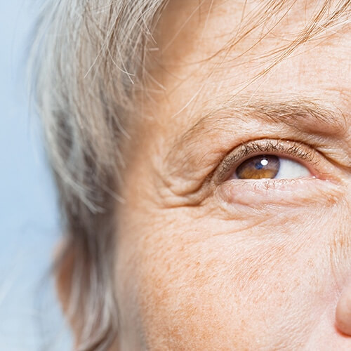 Close-up of an older woman