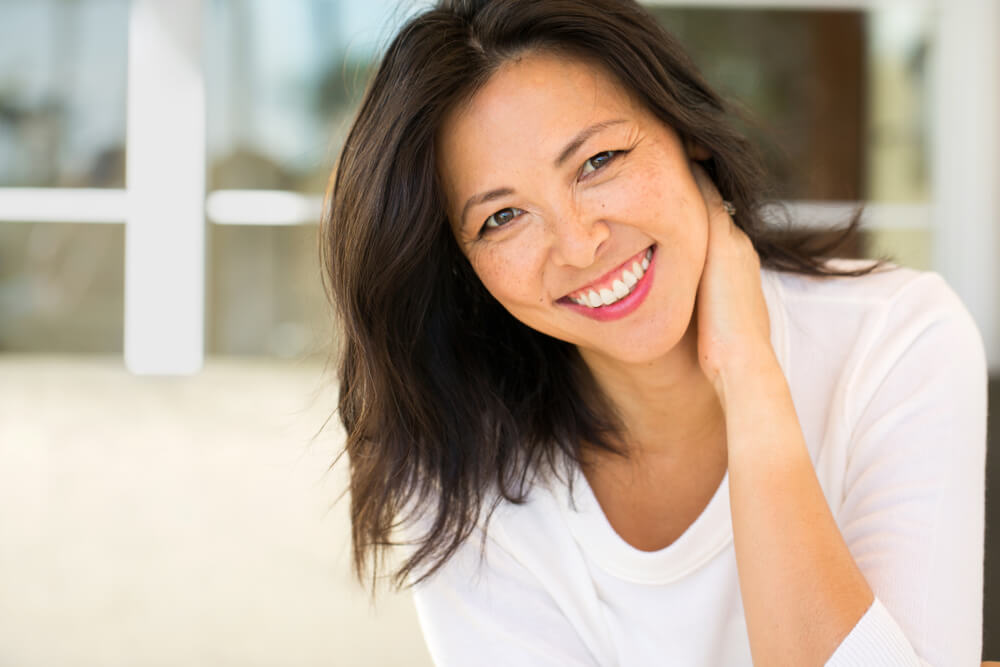 Beautiful middle-aged Asian woman